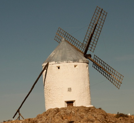 "This windmill looks like it is saying, ""Hello!"""