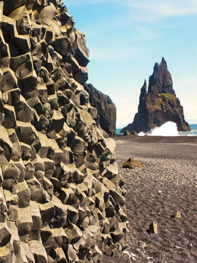 Basaltic Columns and Reynisdrangar Sea Stacks, Reynisfjara Beach