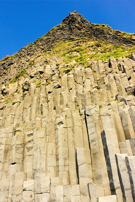 Reynisfjall Mountain and Gardar Basalt Cliffs, Reynisfjara Beach
